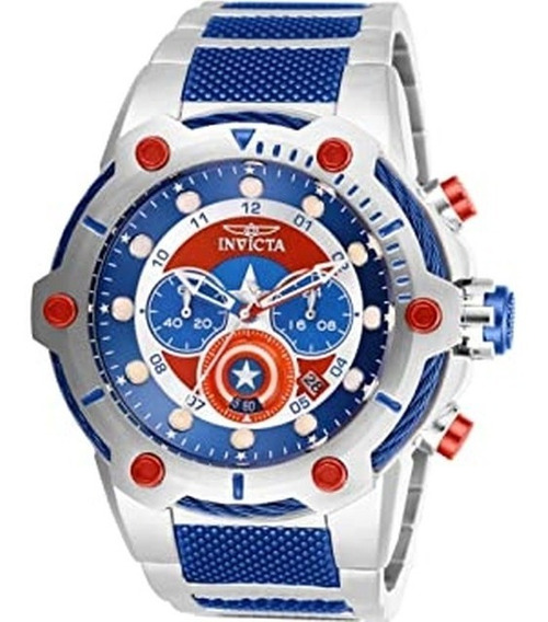 Relógio Invicta Capitão América Pulseira Aço Original