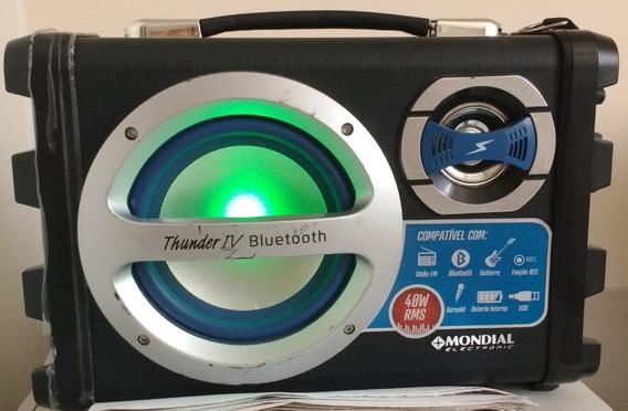Caixa Som Rádio Fm Bluetooth Mondial Mco-04 - Usada