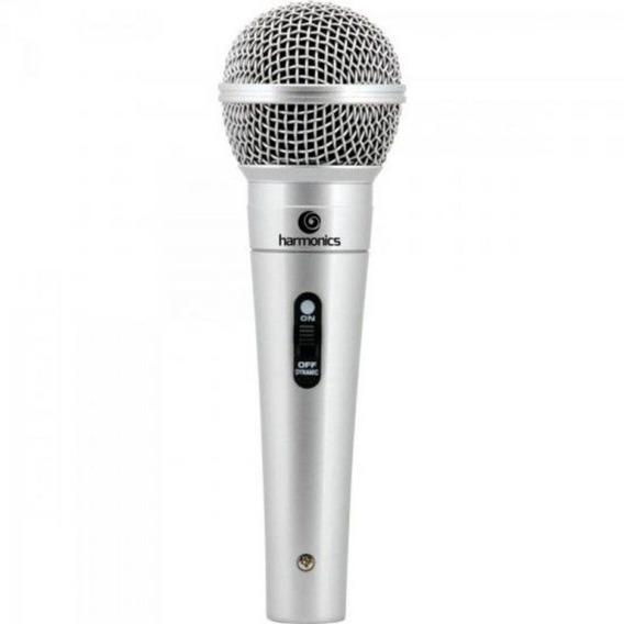 Microfone Dinâmico Mdc201 Prata Harmonics