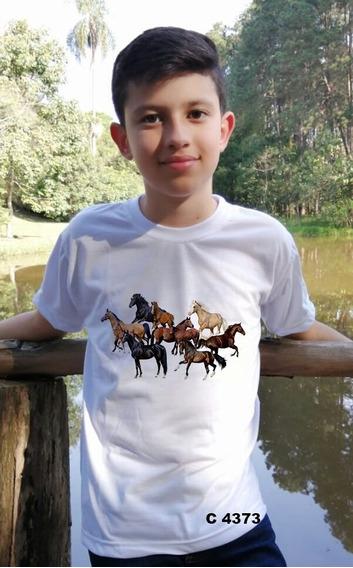 Blusinha Menino Infantil Diversos Cavalos Juntos C4373