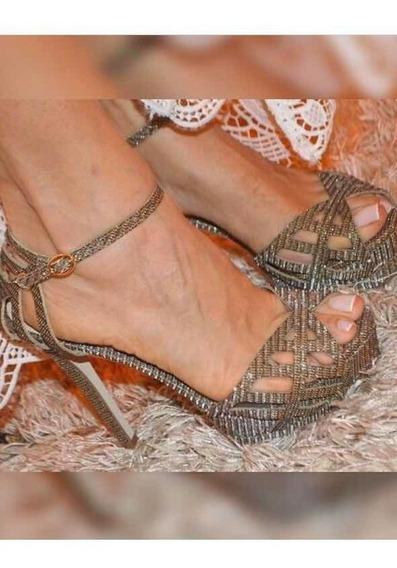 Sandália Dourada Cs Carmen Maraaaa
