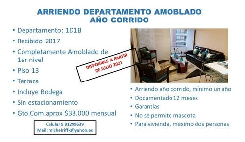 Imagen 1 de 21 de Metro Moneda 1d1b P13; Amoblado; Con Bodega;  Paseo Bulnes