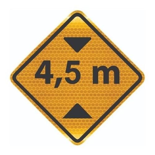 Placa Viária Altura Limitada Refletivo A-37 Ti