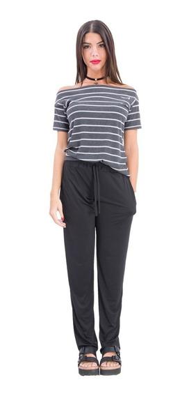 Pantalon Chupin En Fibrana Estampada, En 5 Talles-axioma