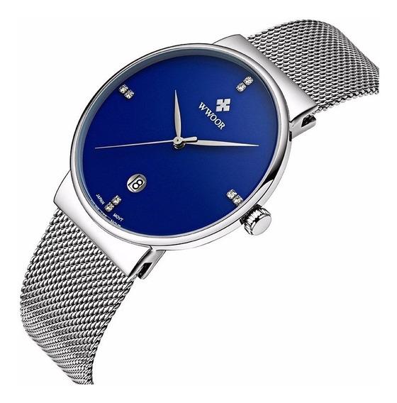 Reloj Wwoor De Moda, Casual Y Elegante Para Caballero