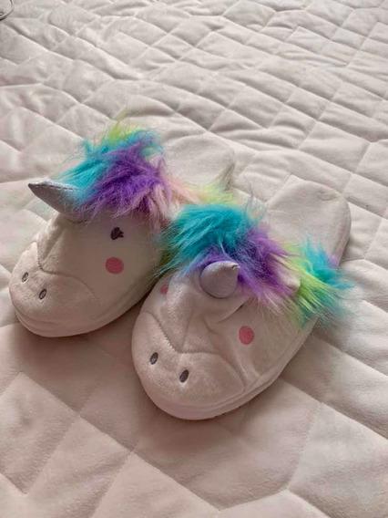 Pantuflas De Unicornio Para Niña
