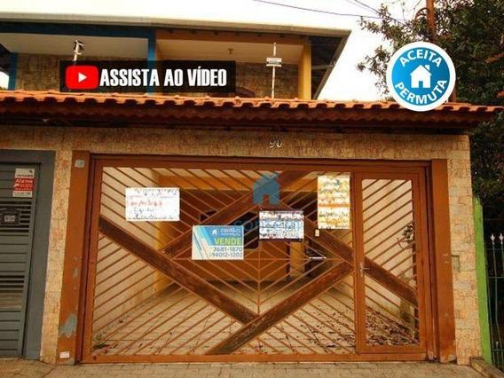 So0100- Sobrado Com 4 Dormitórios À Venda, 140 M² Por R$ 700.000 - Jardim Das Flores - Osasco/sp - So0100