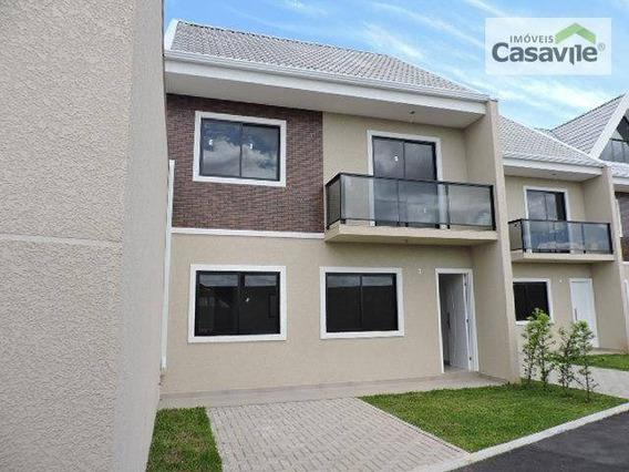 Sobrado Com 3 Dormitórios À Venda, 102 M² Por R$ 420.000 - Tingui - Curitiba/pr - So0042