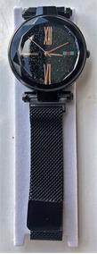 Relógio De Pulso Feminino Romanos - Linda Pulseira De Imã