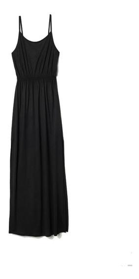 Maxi Vestido Mujer H&m Negro Nuevo Importado Con Etiqueta
