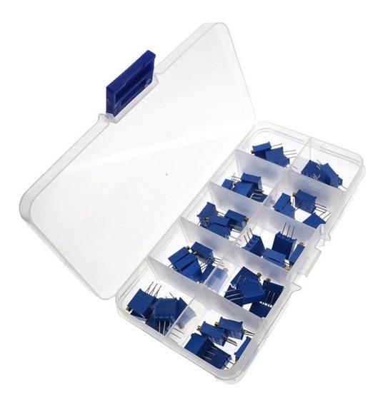 Trimpot Variável Alta Precisão - Kit Com 100 Unidades