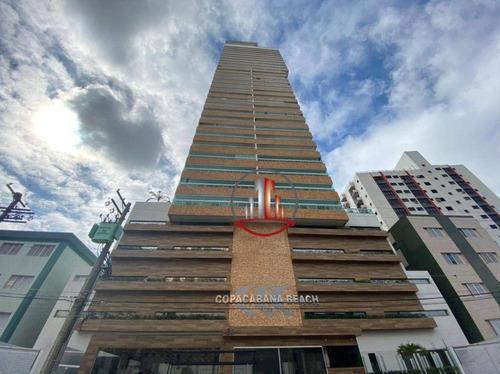 Excelente Apartamento 3 Dormitórios Sendo 3 Suítes , Alto Padrão , Vista Mar - Ap2515