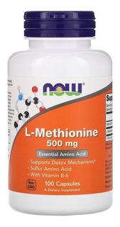 L- Metionina, 500 Mg, 100 Cápsulas, Importado