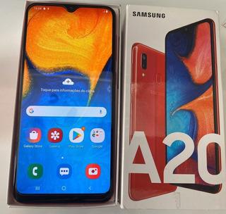 Smartphone Samsung Galaxy A20 Vermelho 32gb, Tela Infinita D