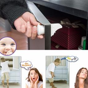 Trava Magnética Gavetas Armários Portas Crianças - Kit Com 4