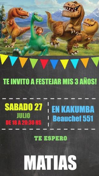 Gran Dinosaurio Tarjeta Invitación Digital Imprimible