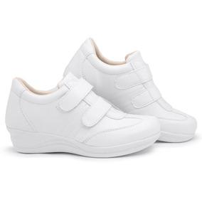 cc5e2bf8d29 Sapato Tênis Feminino Salto Anabela Confort Ortopédico Idosa