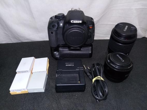 Câmera Canon T5i Seminova + Lente 18 55+brindes
