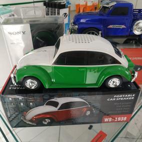 Fusca Taxi 63 Caixa De Som Usb/cartão/rádio Fm - 7w