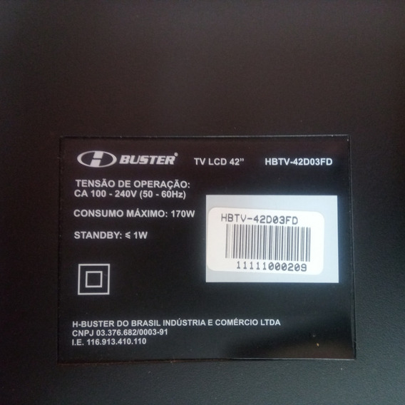 Tv Hbuster Lcd 42 - 42do3fd - Retirada Peças - Lcd Ok
