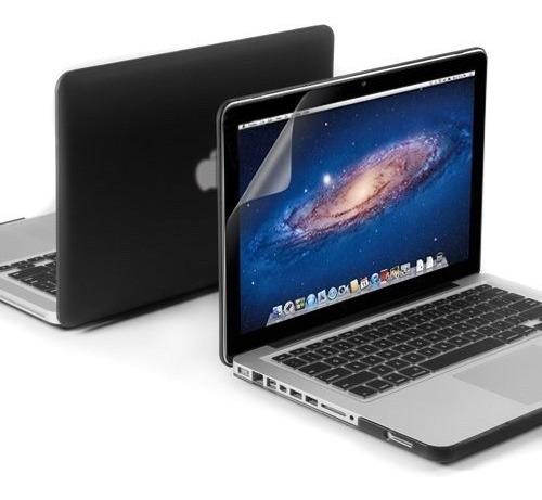 Kit 3x1 Macbook Pro 13 Capa Case Protetor Tela A1278 Dvd