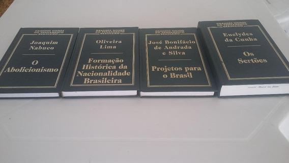 Kit De Livros: Grandes Nomes Do Pensamento Brasileiro