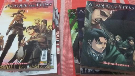 Mangás Ataque Dos Titãs Volume 1 Ao 7.