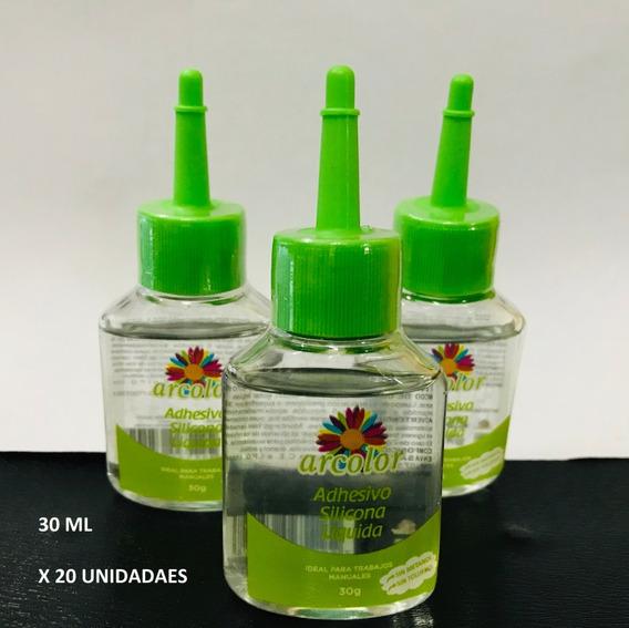 Silicona Liquida 30 Ml Caja X 20 Unidades Pegamento