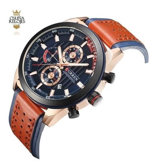 Relógio Masculino De Luxo Curren 8292 Original Na Caixa