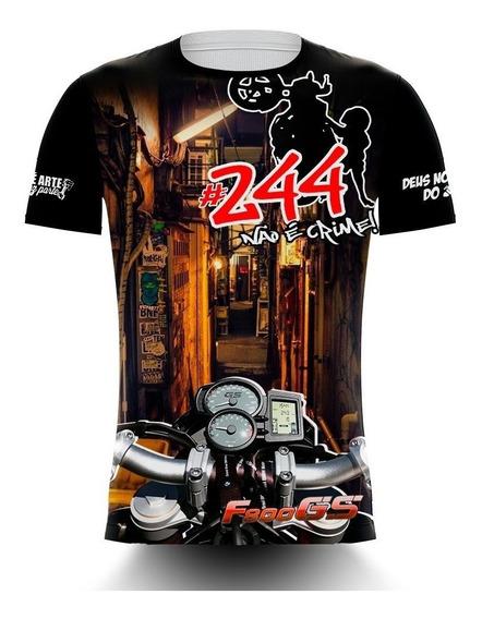 Camisa/camiseta Motos 244 Não É Crime - Bmw F800