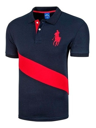 Playera Casual Caballero Polo Hpc 3034-am01 Marino 89028 T4