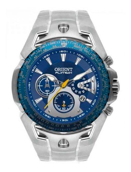 Relógio Orient Flytech V. Azul Titânio Mbttc006 + Frete + Nf