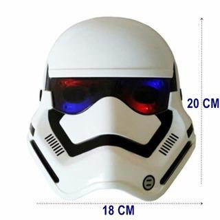Máscara Infantil Star Wars Com Luz Stormtrooper