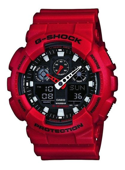 G-shock Ga-100b-4adr Reloj Rojo 0