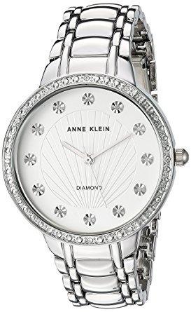 Relógio De Bracelete Diamantado Acentuado Anne Klein Women