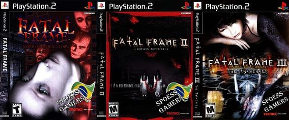 Fatal Frame Ps2 Coleção (3 Dvds) Patch ( Terror )