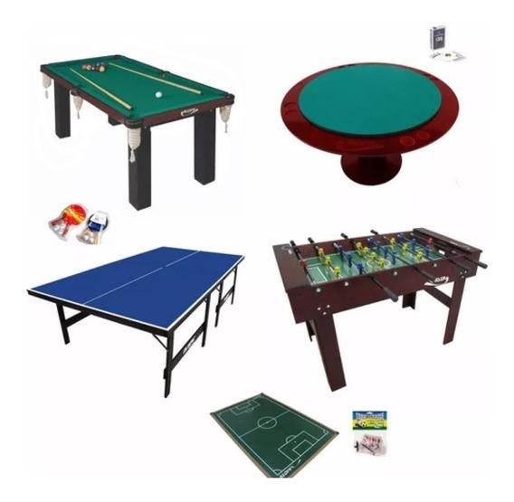 Salão De Jogos Fut. Botão+pebolim+sinuca+ping Pong+carteado