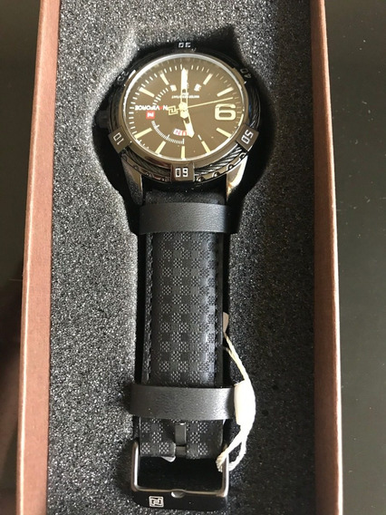 Relógio Naviforce Sport Pulseira De Couro Black 46mm