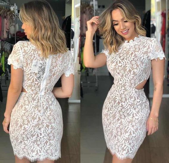 Vestido Feminino Renda Branco Festa Curto Marca Ave Rara