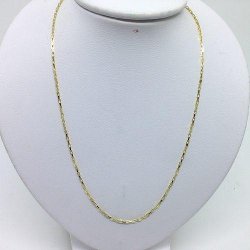 Cordão Veneziana Longa Cadeado Banhado A Ouro 50cm