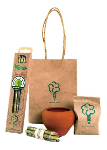 Lapiz Ecologico De Papel Reciclado Con Semilla Fiore Four Ec