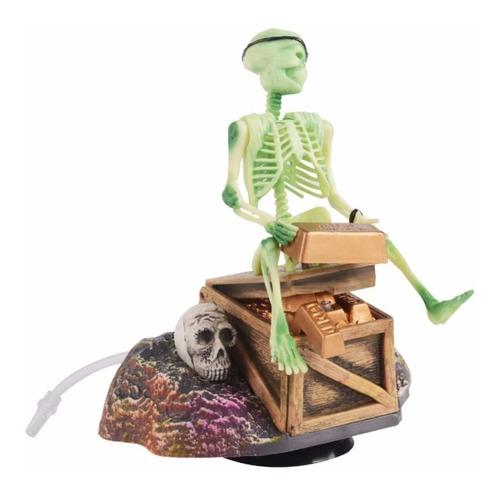 Imagen 1 de 5 de Adorno Pirata Esqueleto Para Acuario Y A