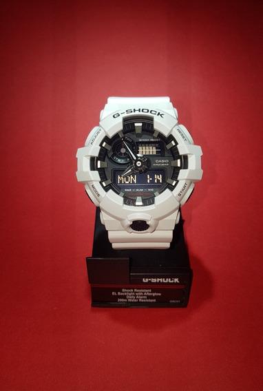Relógio Casio G-shock Ga-700-7adrbranco - Original