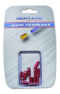 Topes Terminales Quaxar De Freno 5mm Rojo X 10 Unid. - Racer