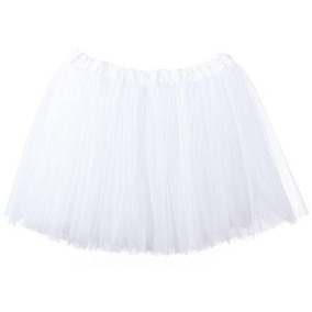 White - One Size - Moda Ropa Organza Tutu Ballet Pett-1541