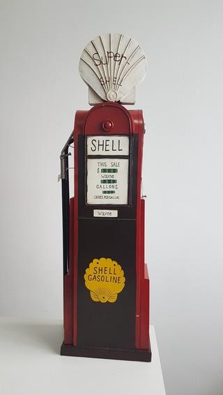 Bomba De Gasolina Decorativa Grande Feita Em Metal
