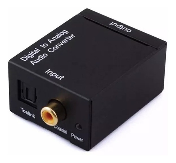 Adaptador Conversor Áudio Óptico Digital Rca Coaxial Com Nf