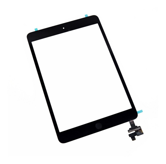 Tela Vidro Touch Screen iPad Mini A1432 / A1454 / A1455 Preto + Botão Home