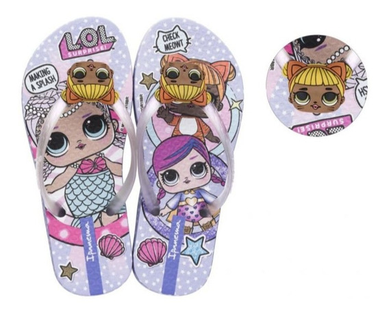 Chinelo Infantil Ipanema Lol Surprise Lilas