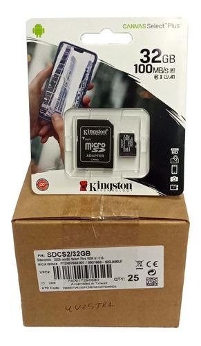Memoria Micro Sd Hc A1 Kingston 32 Gb 100mbs A1 Original 25u